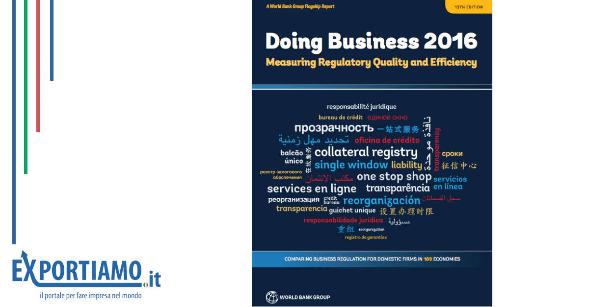 Doing Business 2016: Italia promossa!