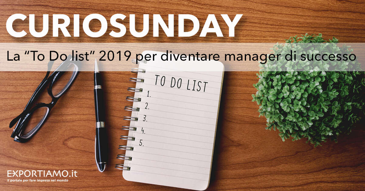 "La ""To Do List"" 2019 per diventare manager di successo"