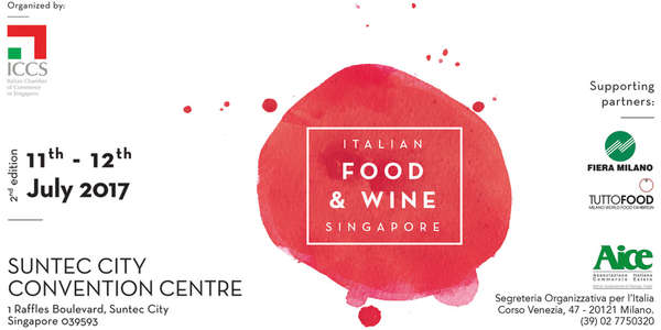 Partecipa all'Italian Food and Wine in Singapore 2017